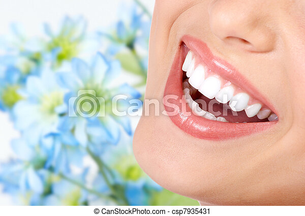 בריא, חייך, teeth. - csp7935431