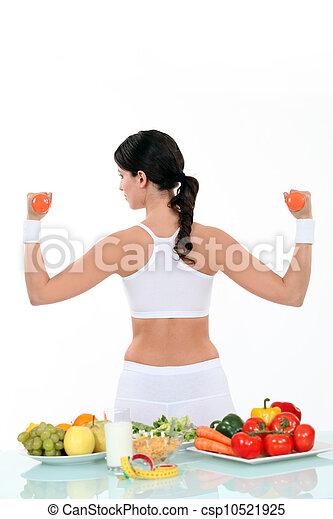 בריא חי, אישה, סגנון חיים - csp10521925