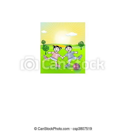 בריא חי, ילדים צעירים - csp3807519