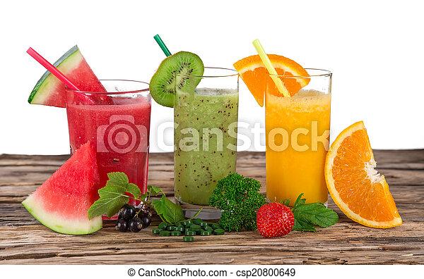 בריא, טרי, drinks., מיץ פירות - csp20800649