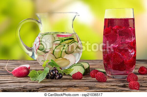 בריא, טרי, drinks., מיץ פירות - csp21036517