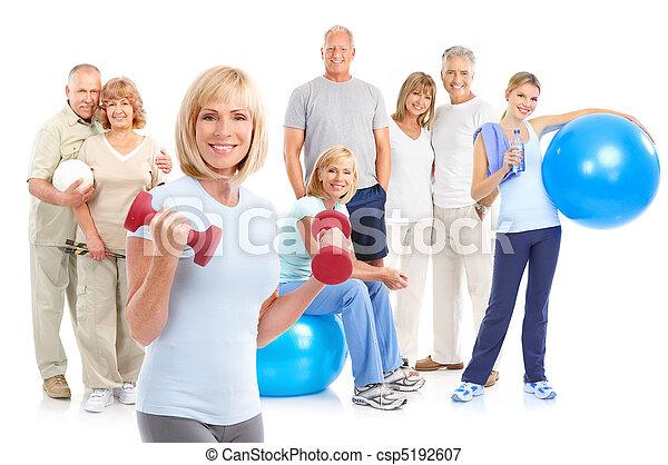 בריא, כושר גופני, אולם התעמלות, סגנון חיים - csp5192607