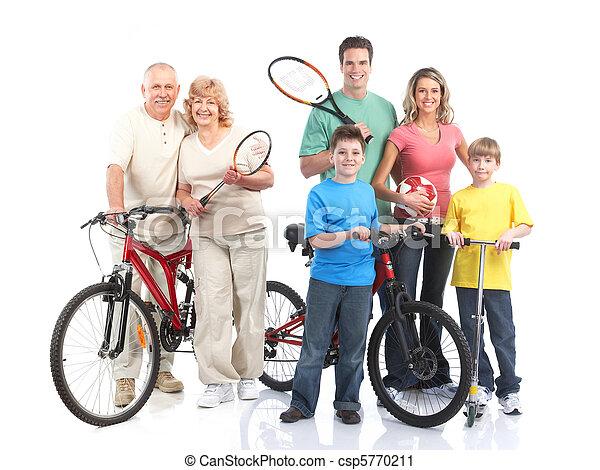 בריא, כושר גופני, אולם התעמלות, סגנון חיים - csp5770211