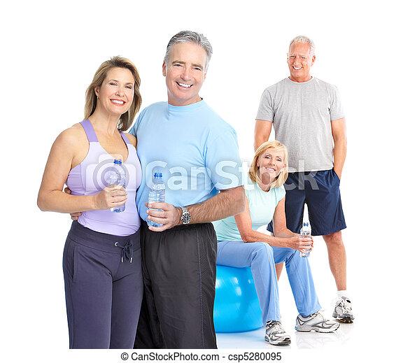 בריא, כושר גופני, אולם התעמלות, סגנון חיים - csp5280095