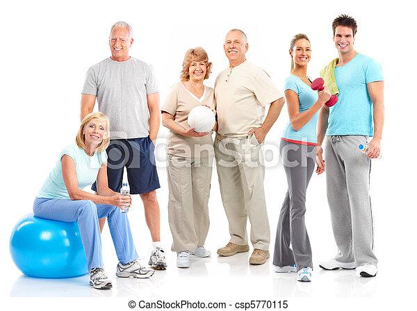 בריא, כושר גופני, אולם התעמלות, סגנון חיים - csp5770115