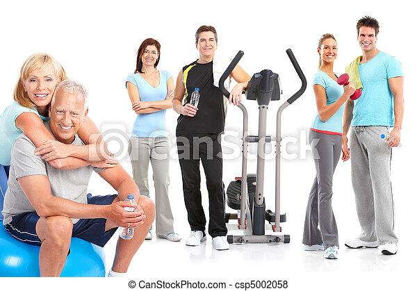 בריא, כושר גופני, אולם התעמלות, סגנון חיים - csp5002058
