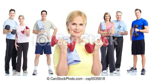 בריא, כושר גופני, אולם התעמלות, סגנון חיים - csp5535618