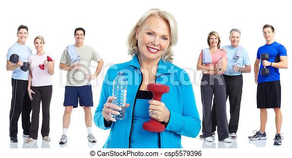 בריא, כושר גופני, אולם התעמלות, סגנון חיים - csp5579396
