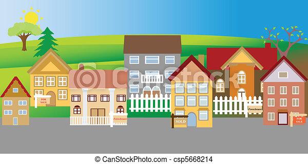 בתים, מכירה, חילוט - csp5668214