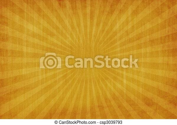 גראנג, תקציר, רקע, שמש, צהוב, בציר, קרנות - csp3039793