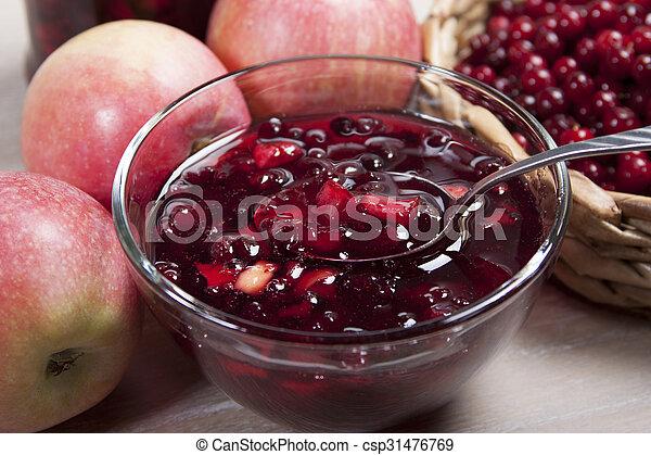 דחוס, קרנבריים, תפוחי עץ - csp31476769