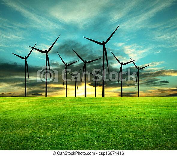 דמות, קונצפטואלי, eco-energy - csp16674416