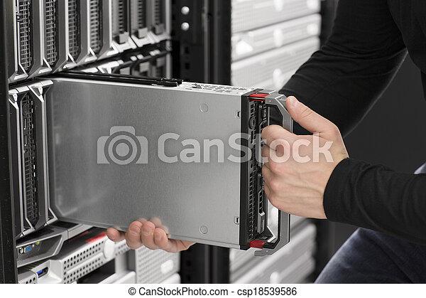 הכנס, רכז, להב, זה, שרת, נתונים, הנדס - csp18539586