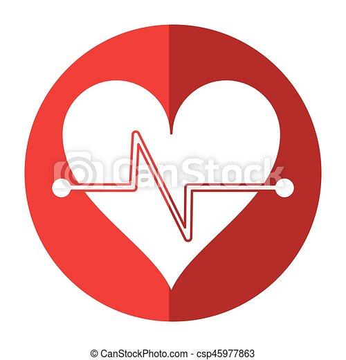 הרבץ, לב, סמל, צל, כושר גופני - csp45977863