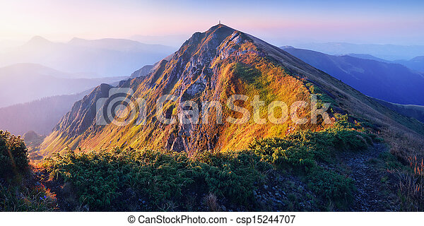 הרים, עלית שמש - csp15244707