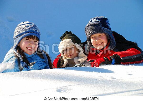 השלג, ילדים - csp6193574