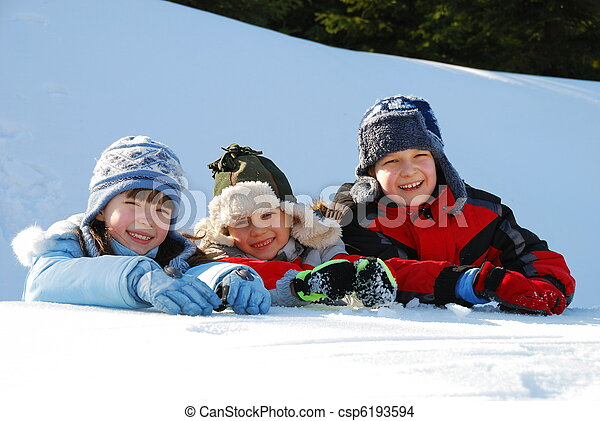 השלג, ילדים - csp6193594
