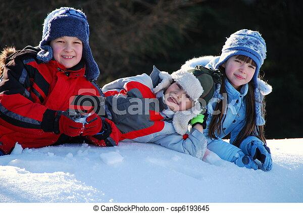 השלג, ילדים - csp6193645