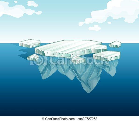 השקה, קרחון, רזה - csp32727263