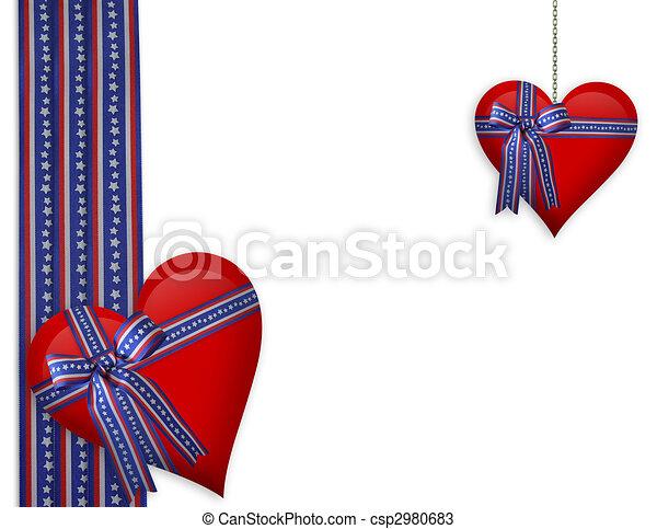 ולנטיין, *רביעי, לבבות, יולי, גבול, או - csp2980683