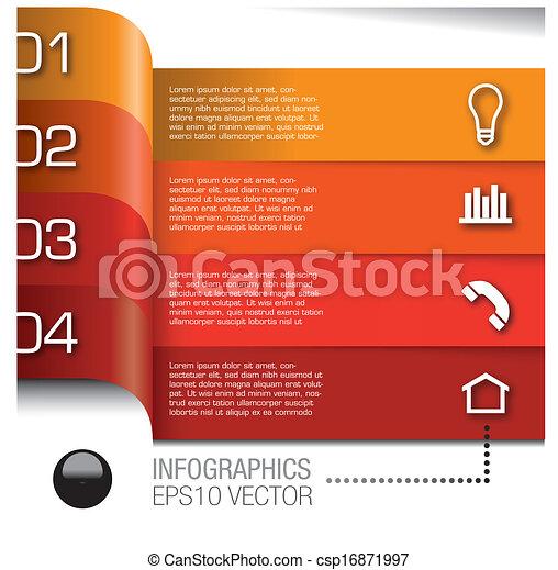 וקטור, קבע, יסודות, infographics - csp16871997
