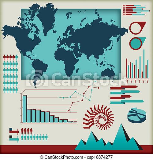 וקטור, קבע, יסודות, infographics - csp16874277