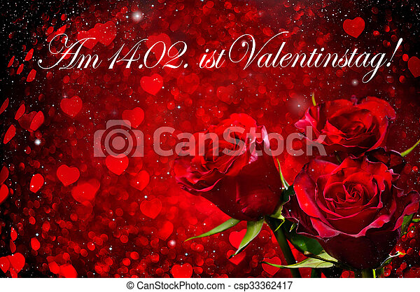 ורדים, יום של ולנטיינים, רקע - csp33362417