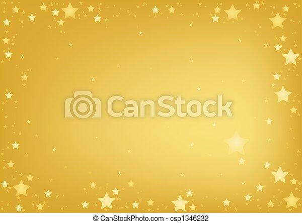 זהב, כוכבים, רקע - csp1346232