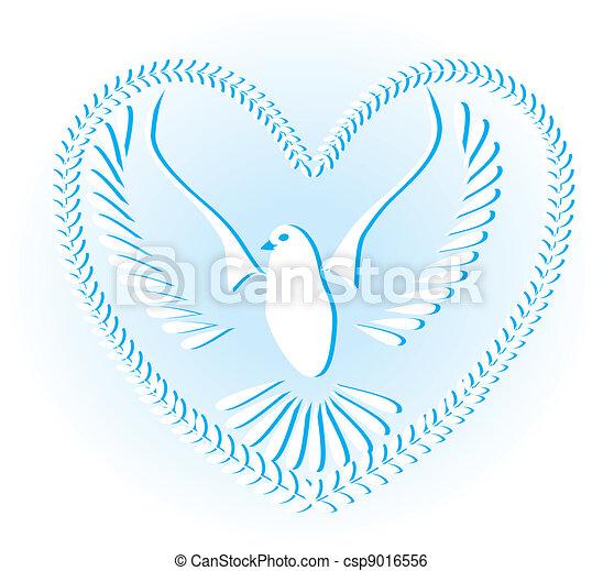 חופש, סמל, שלום, יונה - csp9016556