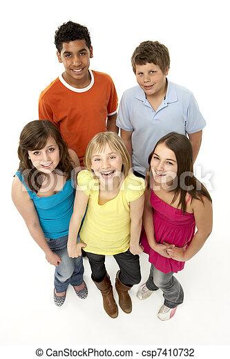 חמשה, ילדים, קבץ, צעיר, אולפן - csp7410732