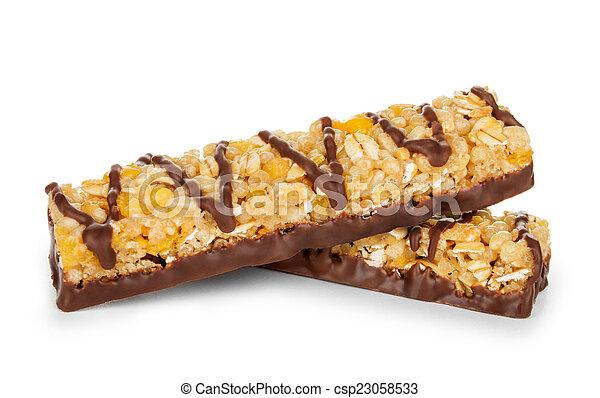 חסום, תבואה, אגוזים, הפרד, שוקולד, לבן - csp23058533
