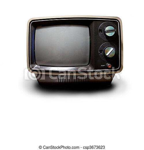 טלויזיה, ראטרו - csp3673623