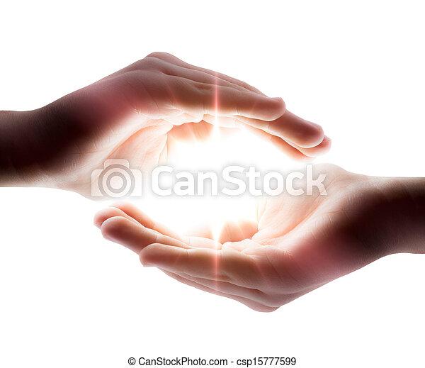 ידיים, אור, שלו - csp15777599