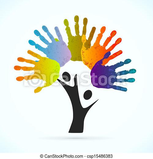 ידיים, עץ - csp15486383