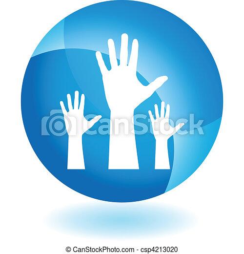 יד מורמת - csp4213020