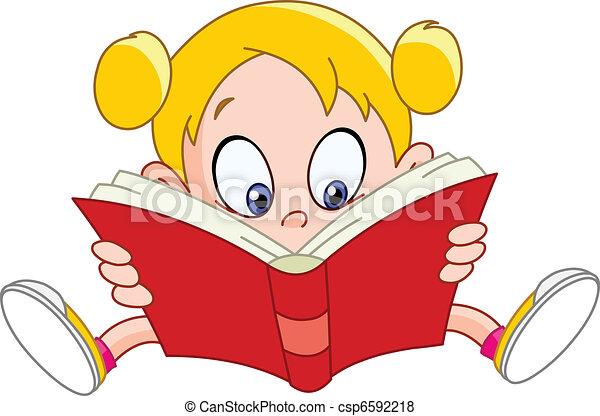 ילדה קוראת, הזמן - csp6592218