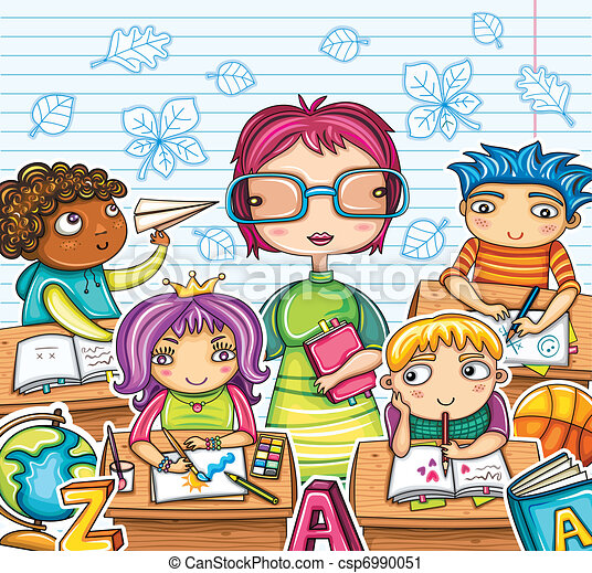 ילדים, מורה, חמוד - csp6990051