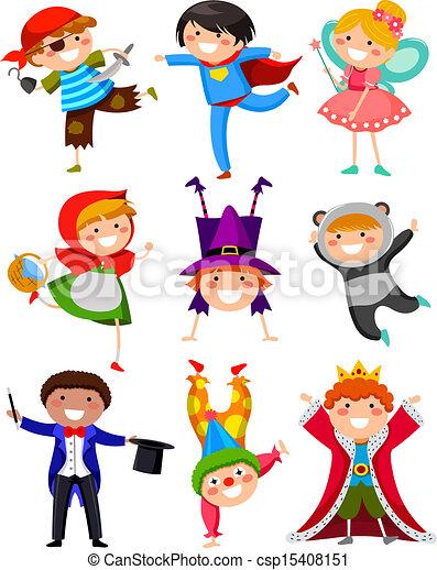 ילדים, תלבושות - csp15408151