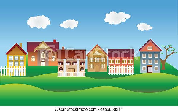 יפה, שכונה, או, כפר - csp5668211