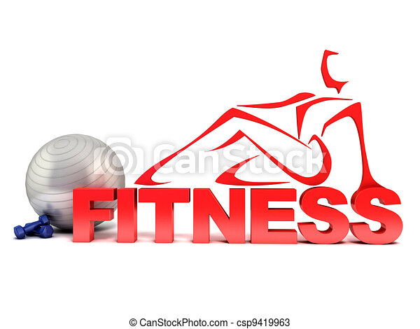 כושר גופני, מושג, 3d - csp9419963