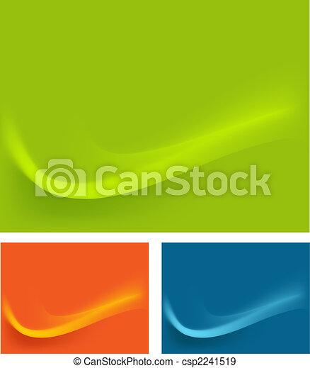 כחול, טפט, השפעות, רקע, גלים, תפוז, ירוק - csp2241519