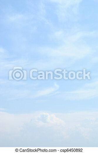 כחול, עננים, שמיים קלים - csp6450892