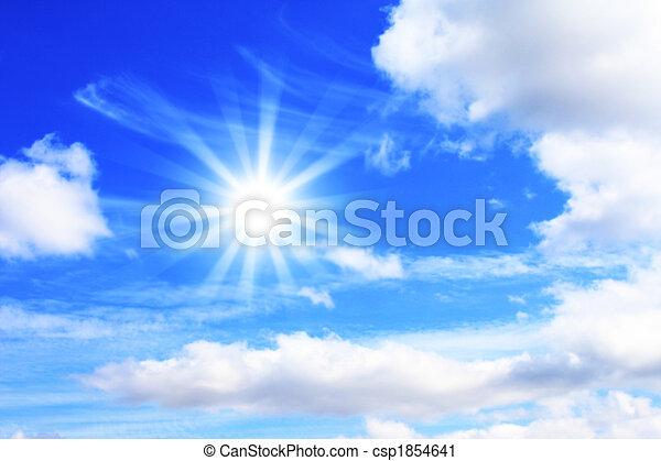 כחול, שמש, שמיים מוארים - csp1854641