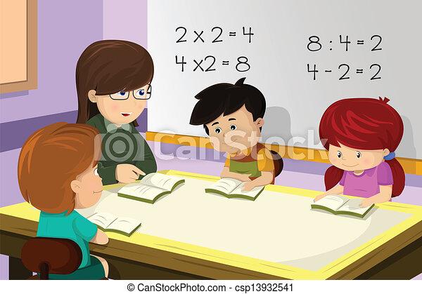 כיתה, מורה, סטודנט - csp13932541