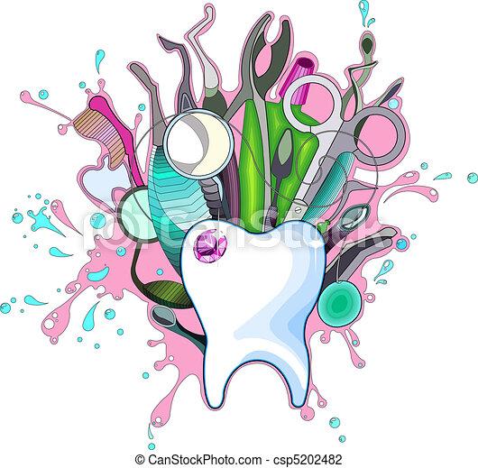 כלים, של השיניים - csp5202482