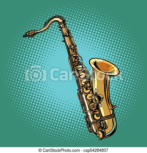 אדיר כלי, סקסופון, מוסיקלי. אומנות, קפוץ, ציור היתולי, מוסיקלי, וקטור SX-24
