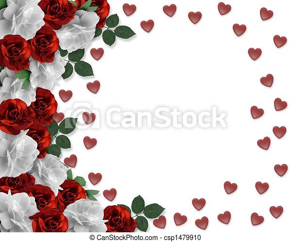 לבבות, יום של ולנטיינים, ורדים - csp1479910