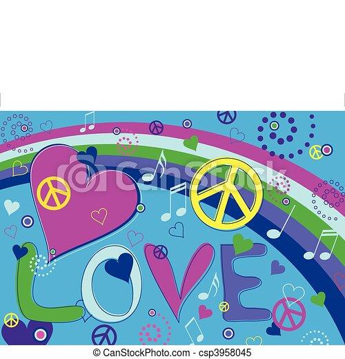 לבבות, שלום, אהוב - csp3958045