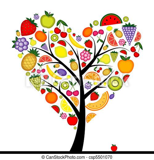 לב, אנרגיה, עץ, עצב, פרי, עצב, שלך - csp5501070