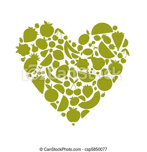 לב, אנרגיה, עצב, פרי, עצב, שלך - csp5850077